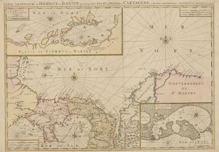 Carte particuliere de Isthmus ou Darien.