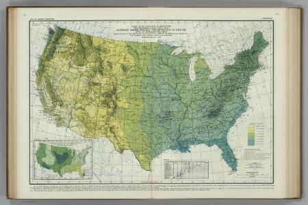 Average Warm Season Precipitation in Inches.  Atlas of American Agriculture.
