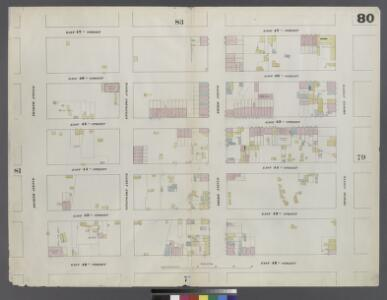 Plate 80: Map bounded by East 47th Street, Second Avenue, East 42nd Street, Fourth Avenue