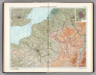 67-68.  North-East France, Belgium, Luxemburg.  The World Atlas.