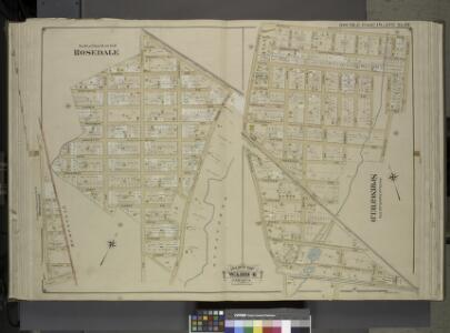 Queens, Vol. 1, Double Page Plate No. 20; Part of     Ward 4; Jamaica; Sub Plan From Plate No. 19; Rosedale; [Map bounded by Plaza     Mill Ave.; Including Ocean Ave.]; Sub Plan From Plate No. 18; Springfield; [Map  bounded by Merrick Rd., Compton Pl.