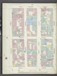 Manhattan, V. 1, Plate No. 22 west half [Map bounded by W. Houston St., Wooster St., Spring St., Sullivan St.]