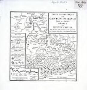 Carte typométrique du Canton de Basle