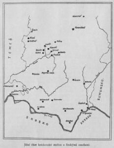 Jižní část krašovské stolice s českými osadami
