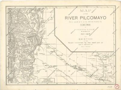 Map of the river Pilcomayo