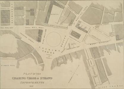 PLAN OF THE CHARING CROSS & STRAND IMPROVEMENTS 1832