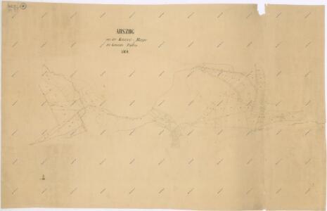 Výsek katastrální mapy obce Fleky