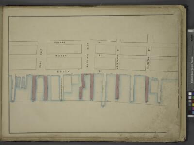 [Map bounded by Cherry St, Clinton St, Pier - Line    39-49, Pike St; Including Water St, South St, Rutgers Slip, Jefferson St]