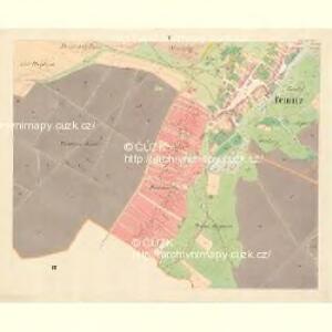 Teinitz (Tinec) - m3185-1-005 - Kaiserpflichtexemplar der Landkarten des stabilen Katasters