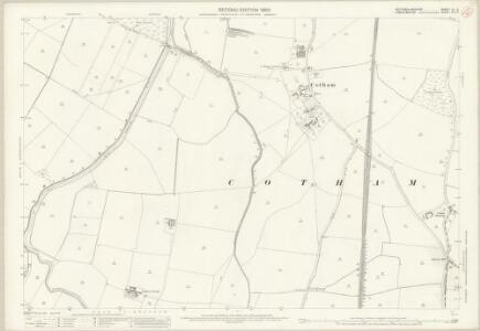 Nottinghamshire XL.3 (includes: Balderton; Cotham; East Stoke; Elston; Hawton; Long Bennington) - 25 Inch Map