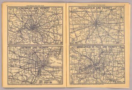 Cincinnati, Detroit, Indianapolis, Minneapolis St. Paul.