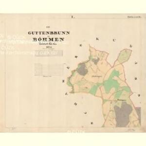 Guttenbrunn - c1165-1-001 - Kaiserpflichtexemplar der Landkarten des stabilen Katasters