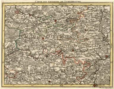Carte des environs de Luxembourg