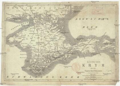 Karte der Krym oder des Taurischen Chersones