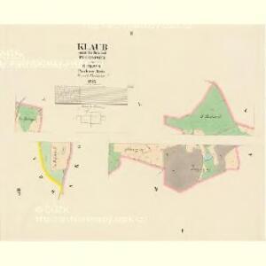 Klaub - c3180-1-001 - Kaiserpflichtexemplar der Landkarten des stabilen Katasters