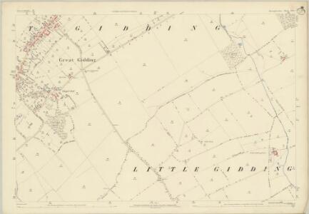 Huntingdonshire XIII.1 (includes: Great Gidding; Little Gidding; Steeple Gidding; Winwick) - 25 Inch Map