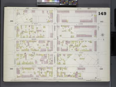 Brooklyn, V. 6, Double Page Plate No. 149 [Map bounded by Prospect Place, Carlton Ave., Atlantic Ave., Underhill Ave.]