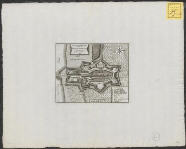Nieuwe grond-tekening van het Fort Hellevoetsluis