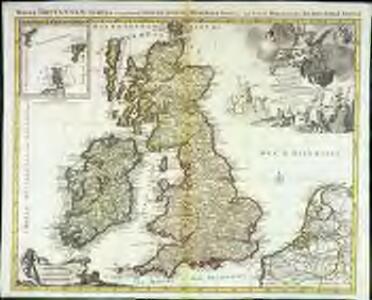 Les isles britanniques qui contiennent les royaumes d'Angleterre, Escosse, et Irlande