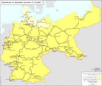 Eisenbahnen im Deutschen Zollverein 31.12.1857