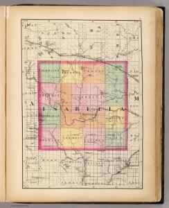 (Map of Isabella County, Michigan)