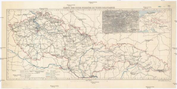 Carte des Voies Ferrées de Tchécoslovaque