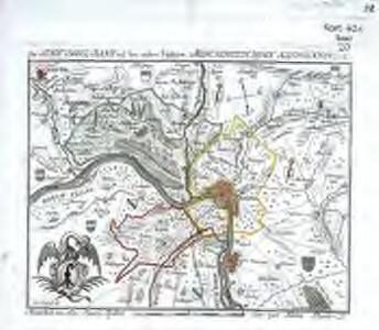 Der Stadt Basel Bann, mit den undern Vogteÿen, Münchenstein, Riehen, Kleinhünningen
