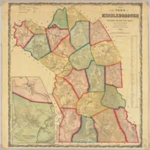 Map of the town of Middleborough, Plymouth County, Mass. : surveyed by order of the town
