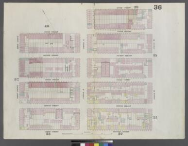 Plate 36: Map bounded by 5th Street, Avenue A, 6th Street, Avenue B, 1st Street, First Avenue