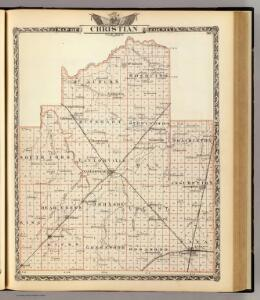 Map of Christian County.
