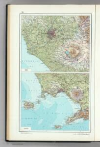 75.  Rome, Naples.  The World Atlas.