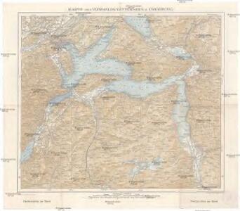 Karte des Vierwaldstättersees & Umgebung