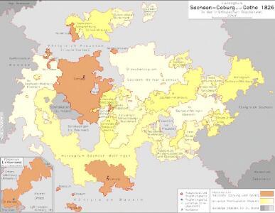 Herzogtum Sachsen-Coburg und Gotha 1826 in der thüringischen Staatenwelt