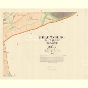 Braunsberg (Brussberg) - m0241-1-005 - Kaiserpflichtexemplar der Landkarten des stabilen Katasters