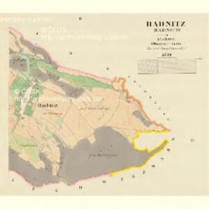 Radnitz (Radnice) - m2519-1-002 - Kaiserpflichtexemplar der Landkarten des stabilen Katasters