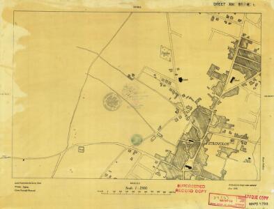 Cyprus 1: 2, 500 (Sheet XXI 61E1) 1950