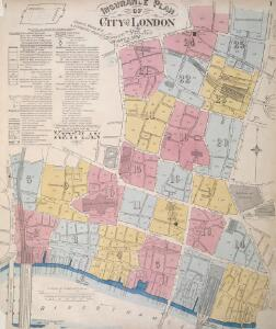 Insurance Plan of City of London Vol. I: Key Plan