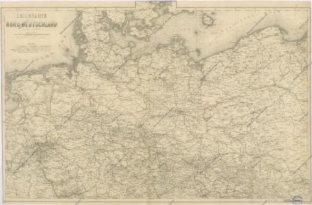 Reisekarte von Nord - Deutschland