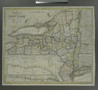 The tourist's map of the state of New York: compiled from the latest authorities in the Surveyor General's office / engraved by Balch, Stiles & Co., N. York.