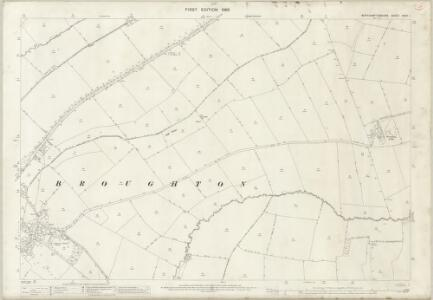 Northamptonshire XXXII.1 (includes: Broughton; Cransley; Pytchley) - 25 Inch Map