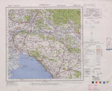 Italy 1:100,000 / Sardinia 1:100,000, Corizia