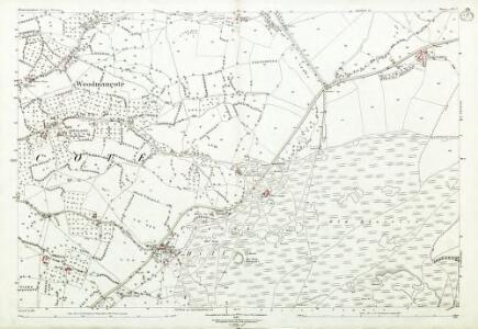 Gloucestershire XX.9 (includes: Prescott; Southam; Winchcombe; Woodmancote) - 25 Inch Map