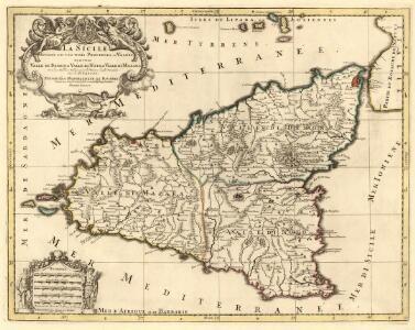 La Sicile divisée en ses trois Provinces ou Valées sçavoir Valle di Demona, Valle di Noto et Valle di Mazara