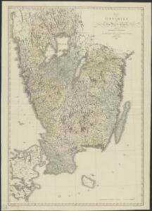 Karta öfver Götarike eller södra delen af Swerige
