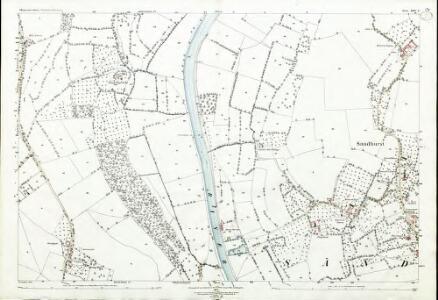Gloucestershire XXV.2 (includes: Ashleworth; Hartpury; Maisemore; Sandhurst) - 25 Inch Map