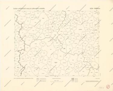 Soubor přehledných map pro plánování a statistiku: 4254 – Pelhřimov