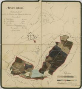 Porostní mapa polesí Jílovice 1