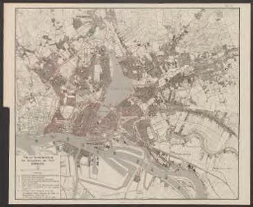 Plan zur Veranschaulichung der Sielsysteme der Stadt Hamburg