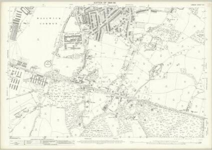 London (Edition of 1894-96) CVII (includes: Borough Of Greenwich; Borough Of Woolwich) - 25 Inch Map
