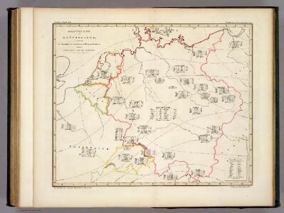 Botanische Karte von Deutschland.